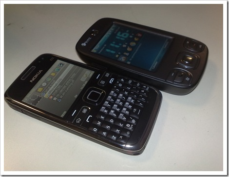 Nokia E72 with HTC