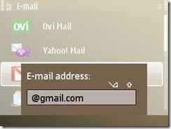For known mails only Email ID/ password is enough