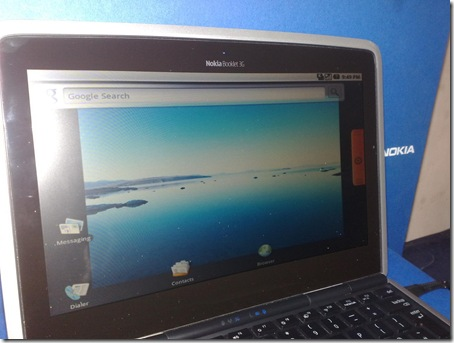 Android on Nokia Booklet