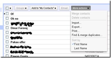 contacts Gmail