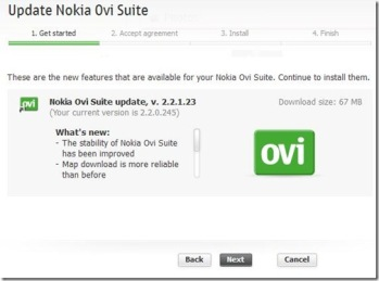 Nokia Ovi Suit Update, v  2 2 1 23, some questions and