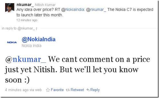 Nokia C7 Price